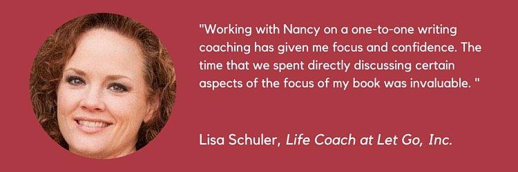 The Book Professor Testimonials Lisa Schuler life coach book writing author coach