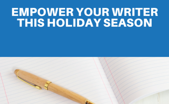 The Book Professor Holiday Gift Certificate is an excellent gift for aspiring writers. Gifts for writers and writer gift guides