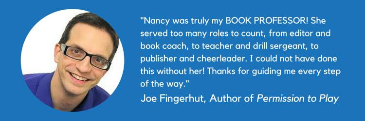 Joe Fingerhut Testimonial - The Book Professor