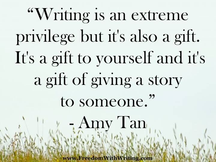 Amy Tan quote for writers gift how to write a book