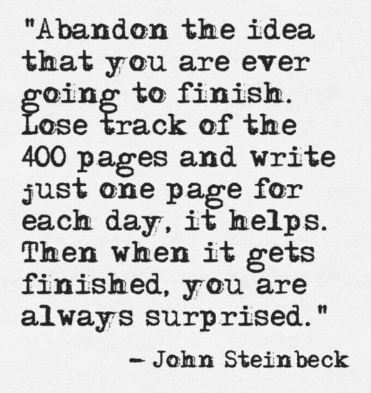 john steinbeck quote how to write a book