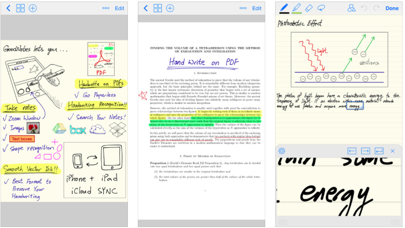 goodnotes software for writers